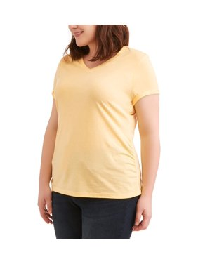 4f182af5932 Product Image Women s Plus Size Short Sleeved V-Neck Side Shirred T-Shirt