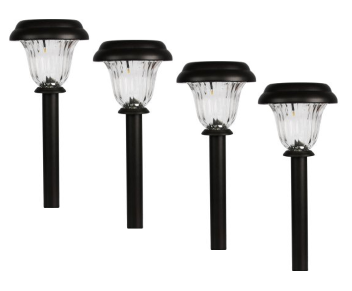 Mainstays 4-Pk Solar Pathway Light Set by QUANXIN LIGHTING & ELECTRICAL CORPORATION LIMITED