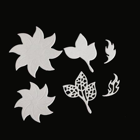 Flower & Leaves Combination Carbon Steel Cutting Dies Set Knife Mold Stencils DIY Scrapbooking Die Cuts Decor Crafts Embossing Templates Art Cutter - image 3 de 6