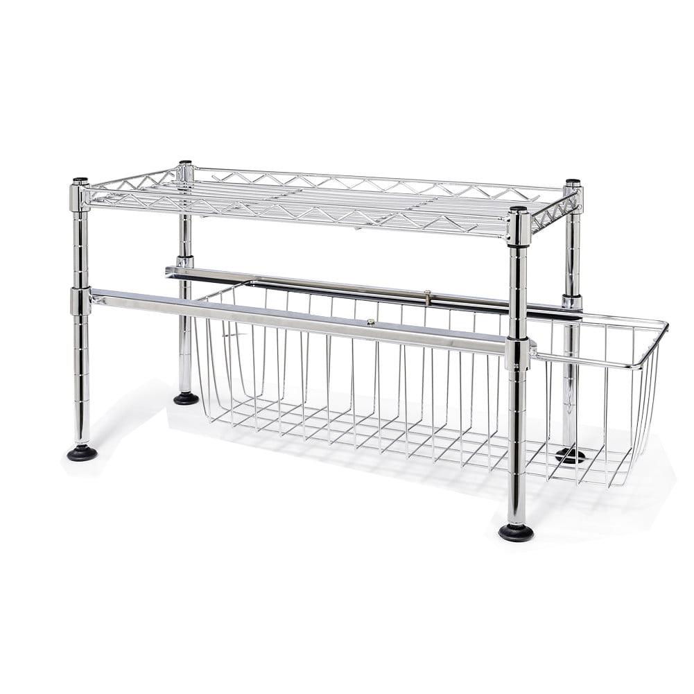 Stackable Under Sink Cabinet Sliding Basket Organizer Drawer