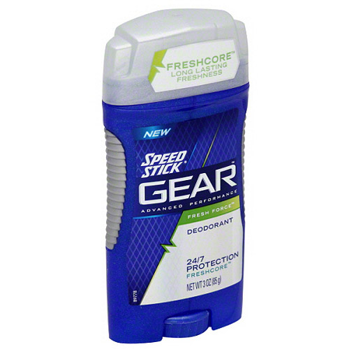 Speed Stick  Gear Men's Deodorant, Fresh Force, 3 Ounce