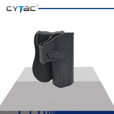 CYTAC CZ Paddle Holster with Trigger Release 360 degree Adjustable Cant, Polymer Holster Injection Molded for CZ P-07 / P-09 | OWB Carry, RH | 7 attachment options