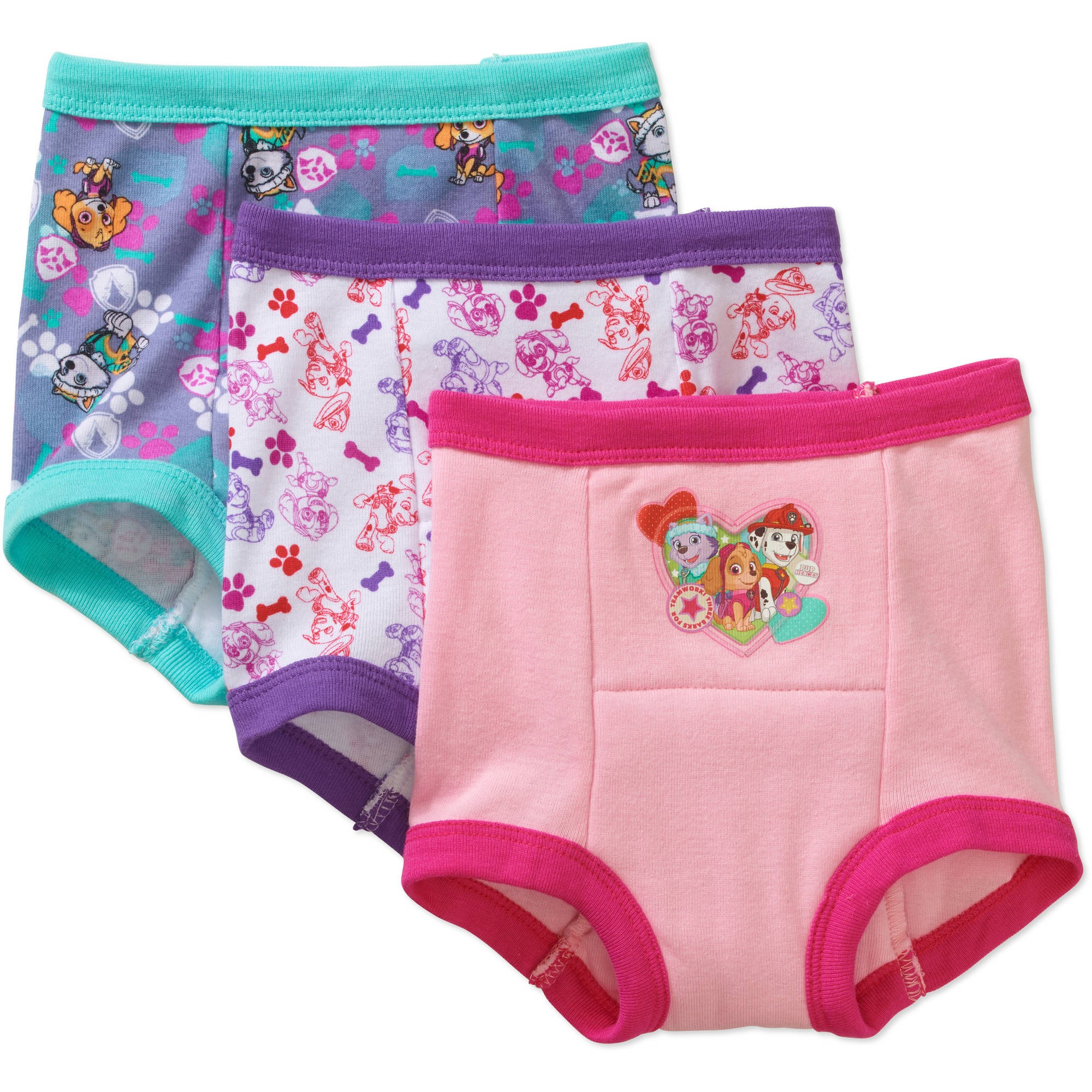 Paw Patrol Toddler Girls' Training Pants, 2T, 3 Pack