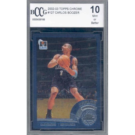 2002-03 topps chrome #127 CARLOS BOOZER rookie BGS BCCG 10