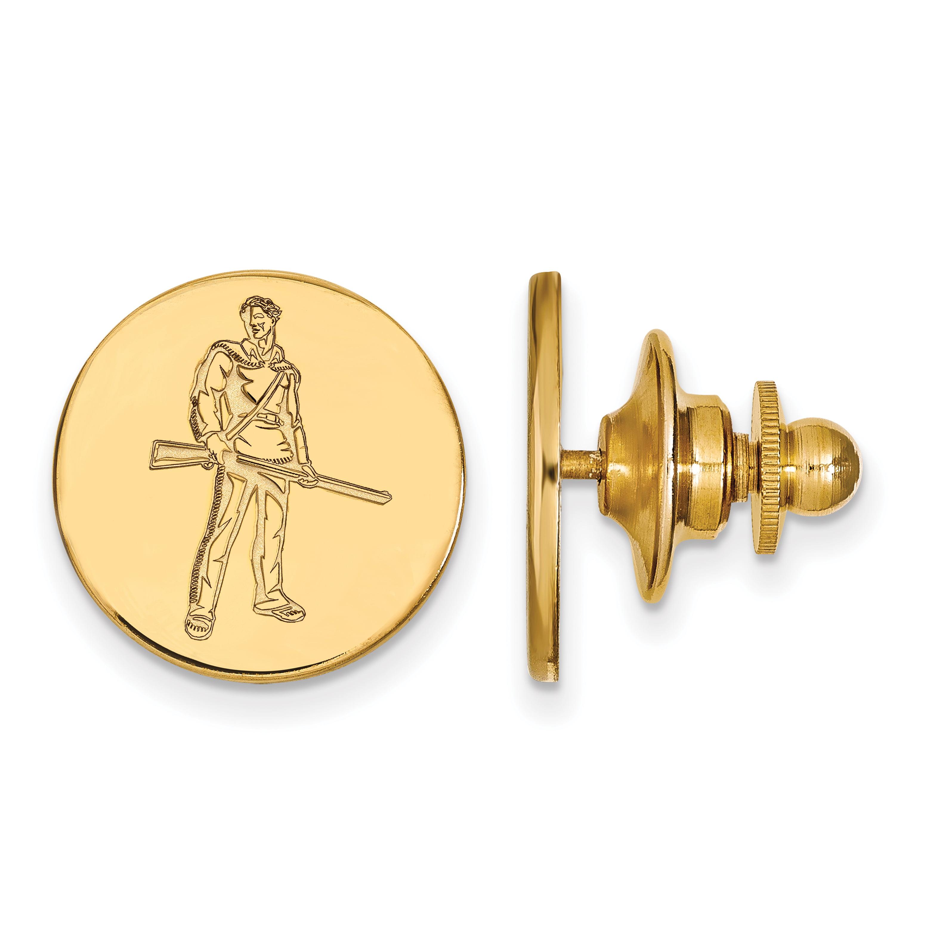 Roy Rose Jewelry 14K Yellow Gold LogoArt West Virginia University Lapel Pin