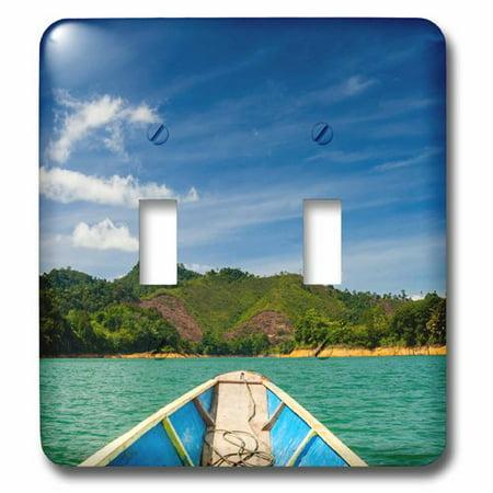 3dRose Lake Batang Ai, Batang Ai NP, Sarawak, Malaysian Borneo, Malaysia, Double Toggle Switch