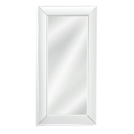 Bassett Leather Mirror (Bassett Mirror Whitman Leaner Mirror in Clear Finish M4014B )