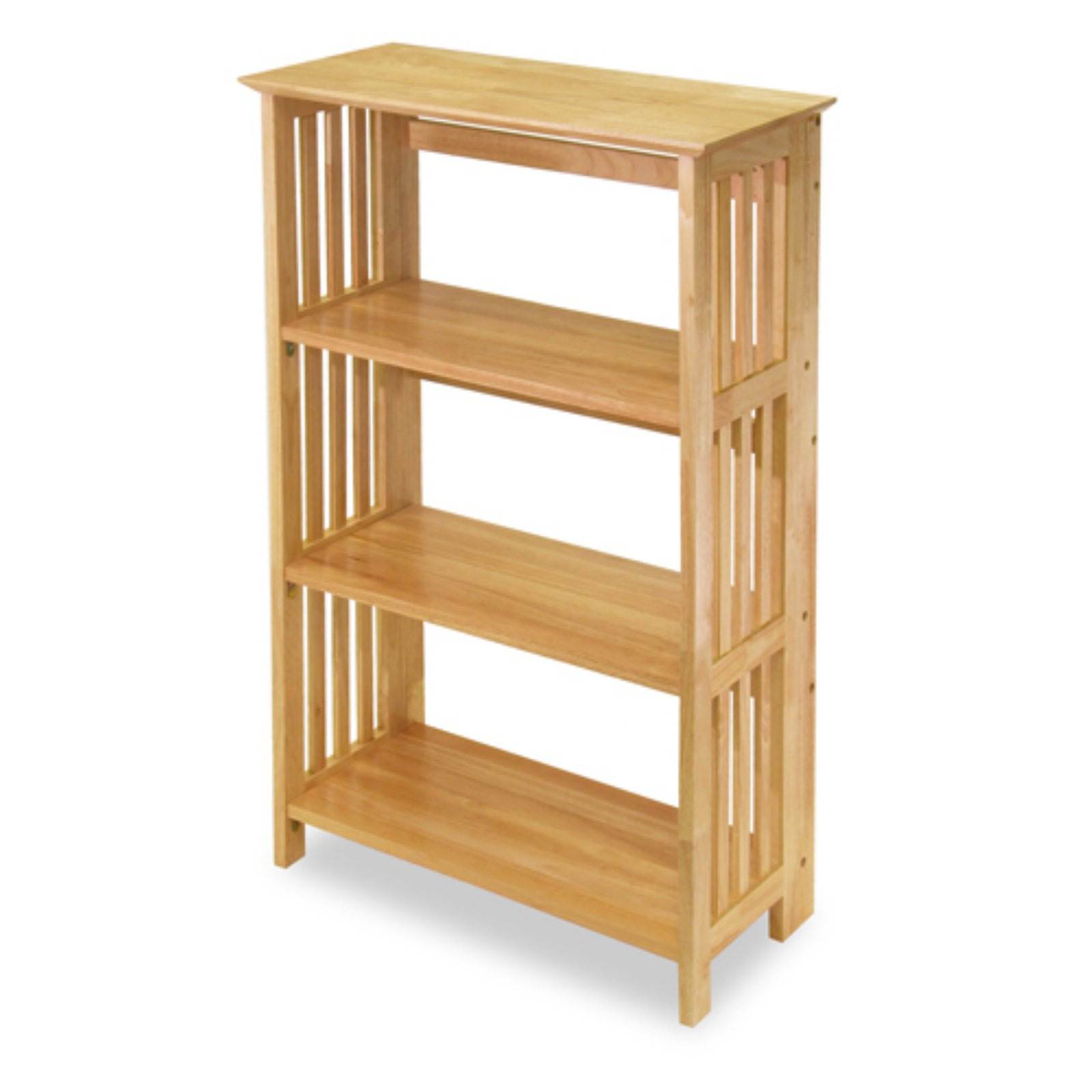 Folding Mission Bookstand / Shelf, Honey Pine