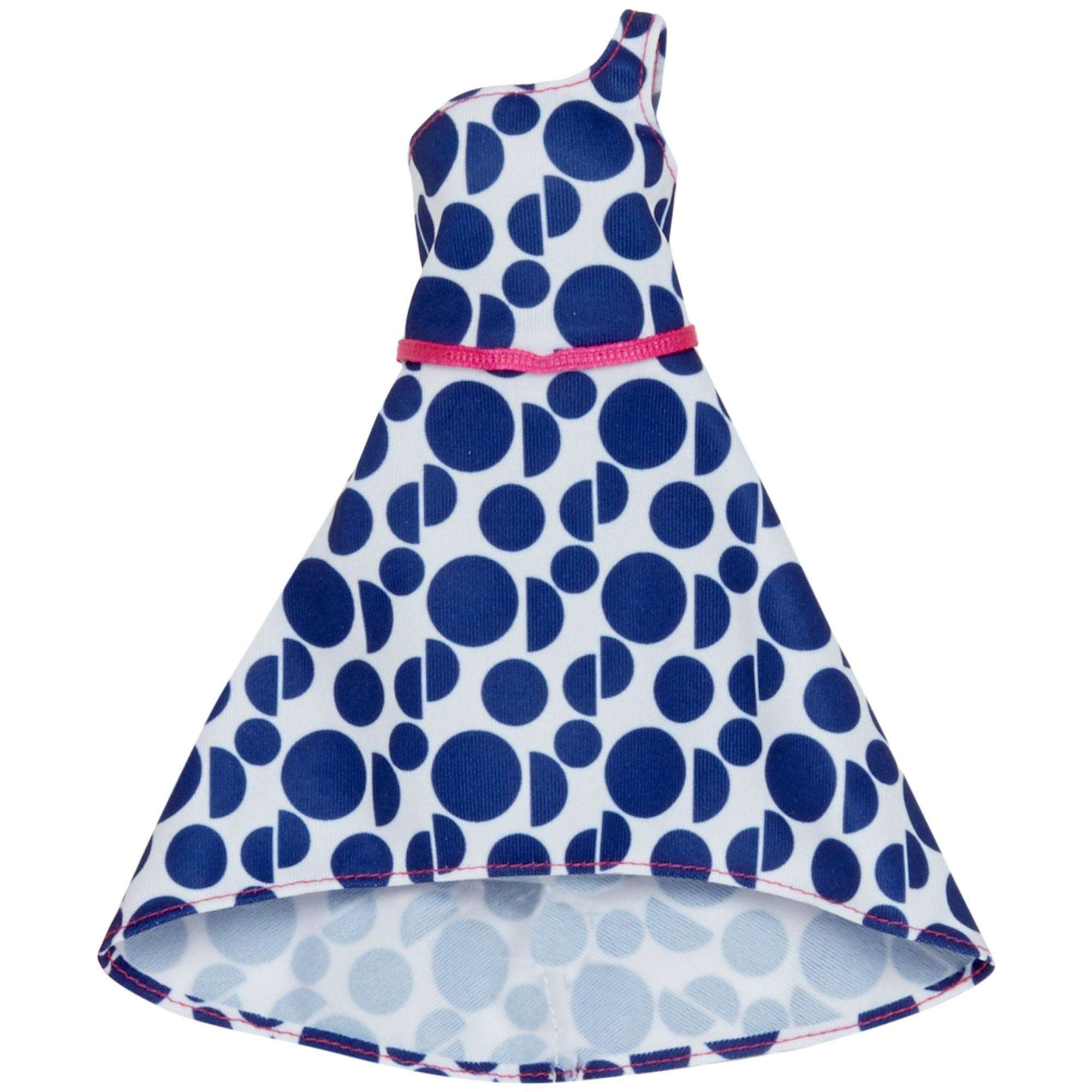 Barbie Trendy Blue Polka Dot Fashion Dress 11