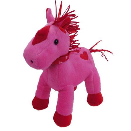 Animal Adventure Plush Horse Stuffed Animal Valentine Pink Pony Pal (Valentines Animals)