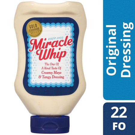 (2 Pack) Miracle Whip Original Dressing, 22 Fl Oz Squeeze