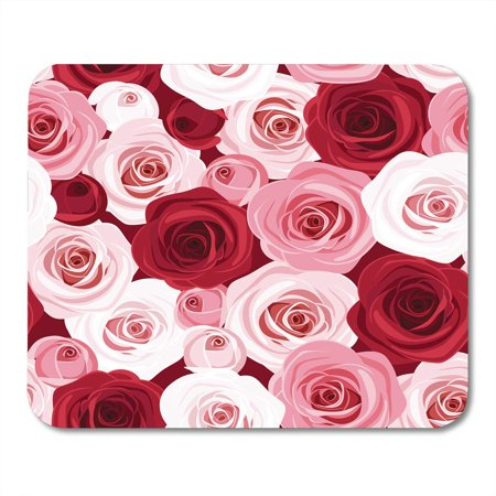 SIDONKU Colorful Pattern Red and Pink Roses Flower Maroon Floral Color Bouquet Mousepad Mouse Pad Mouse Mat 9x10 inch