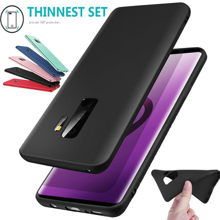 Luxury Ultra-thin Slim Shockproof Silicone Soft TPU Rubber Protective Back Case Cover for Samsung Galaxy S9 Plus - Black