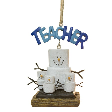 S'Mores Teacher with Kids Christmas/ Everyday Ornament