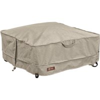 """Classic Accessories Montlake™ FadeSafe® Full Coverage Square Fire Pit Cover - Water Resistant Outdoor Furniture Cover, 30""""L x 30""""W x 12""""H, Small, Heather Grey"""