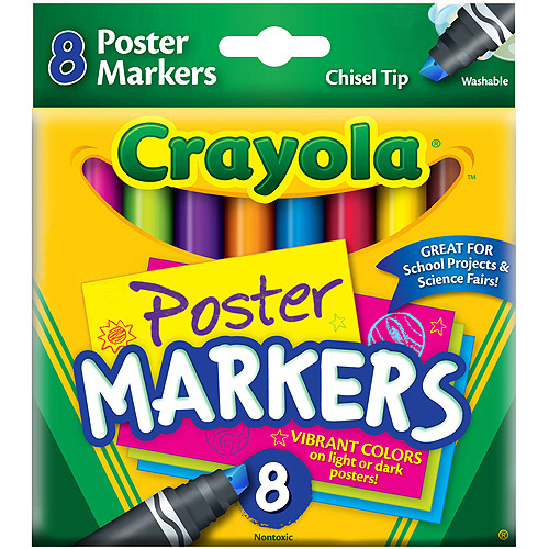 Crayola Poster Markers, 8/pkg