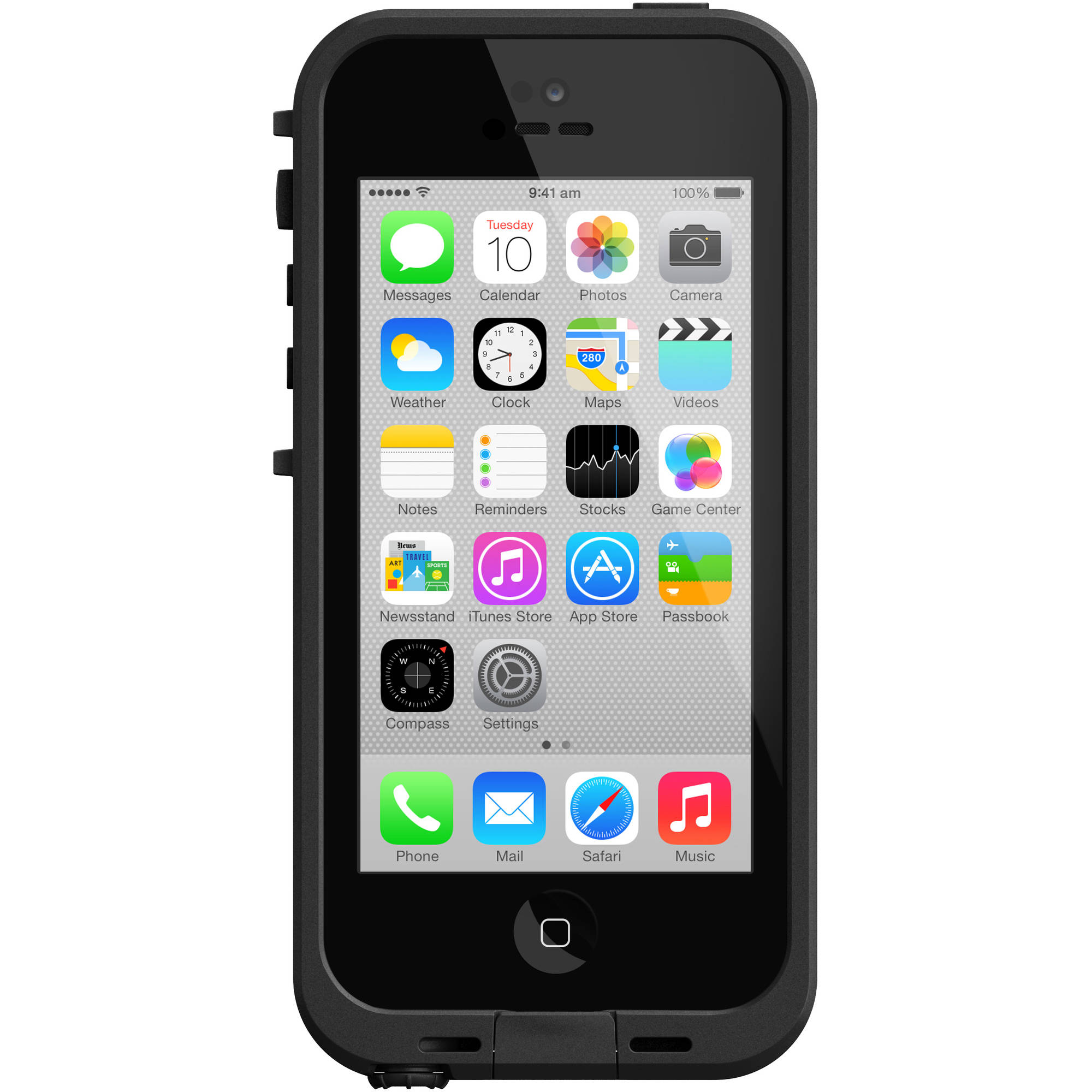 iPhone 5c Lifeproof apple iphone case fre series, black