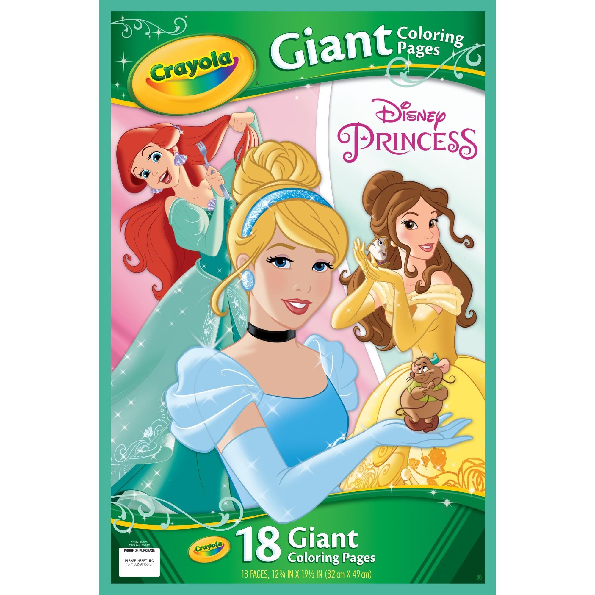 Crayola Giant Color Pages, Disney Princess