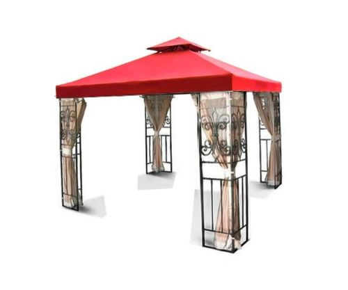 8'x8' Gazebo Top Canopy Replacement Cover (Red) - Dual Ti...