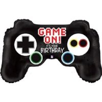 36 Video Game Controller Mylar Balloon Multi-Colored