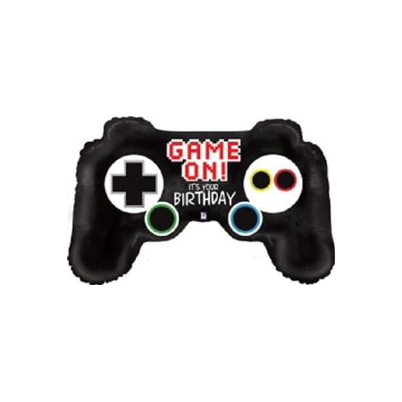 36 Video Game Controller Mylar Balloon Multi-Colored Christmas Gift Shaped Mylar Balloon