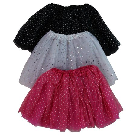 Girls Ballerina Sparkle or Chiffon Tutu Beginner 3 Pack Dress Up Set (Black & Pink and White), Beginning ballerinas will love to dance and twirl in these.., By Making Believe Ship from US