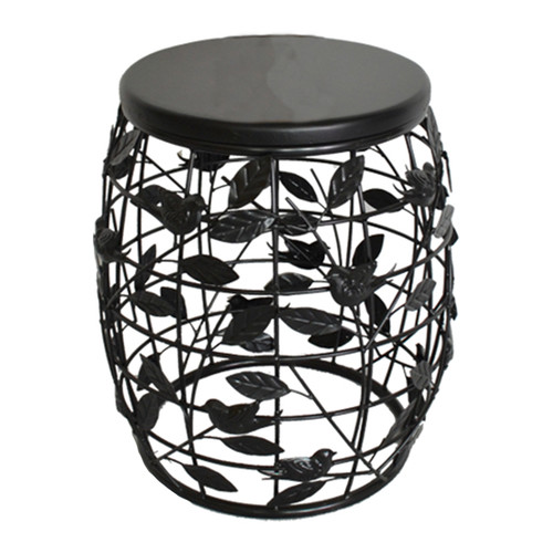 Fox Hill Trading Humbolt Bird Theme Barrel End Table