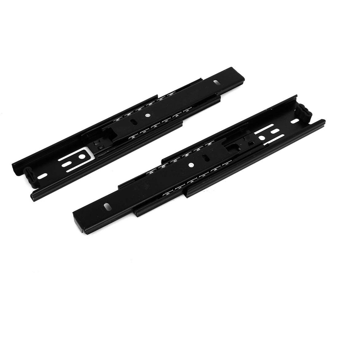 Uxcell Unique Bargains6'' Length 3-Section Ball Bearing Full Extension Drawer Slides Track Black 2pcs