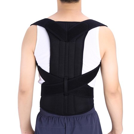 Shoulder Back Waist Support,Yosoo Adjustable Back Support Posture Corrector Brace Posture Correction Belt for Men Women Back Shoulder Support Belt (Best Back Brace For Posture Correction)