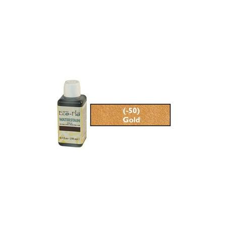 Tandy Leather Eco-Flo Waterstain Gold 8.5 oz. (250ml) (Eco Flo Leather Dye)
