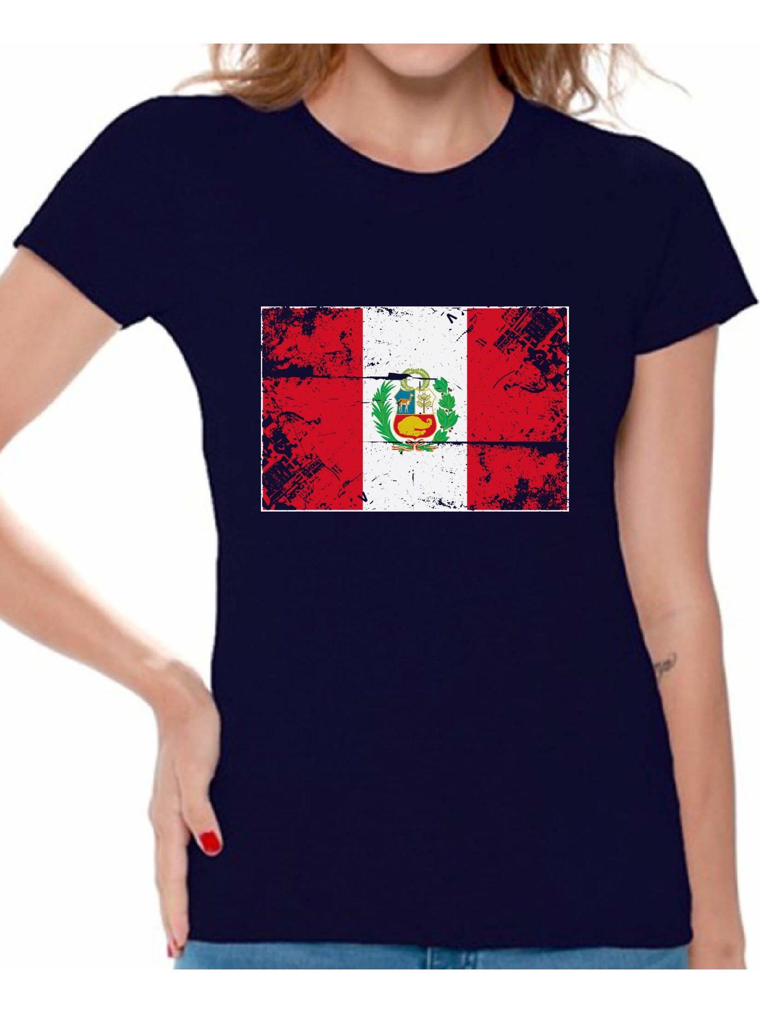 Awkward Styles Peru Flag Shirt for Women Peruvian Soccer 2018 Tshirt Gifts  from Peru Flag of Peru Peruvian Women Peru Shirts for Women Peru 2018 Tshirt  ... 3f7adc1ba1