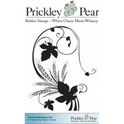 Prickley Pear Cling Stamps 2.5 Inch X 2 Inch-Grape Leaf Flourish