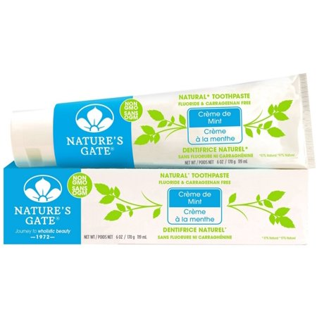 Nature's Gate Natural Toothpaste, Creme de Mint 6 oz (Pack of 3)