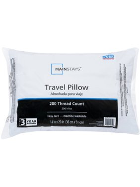 "Mainstays 100% Polyester Travel Pillow 14"" X 20"" In White"