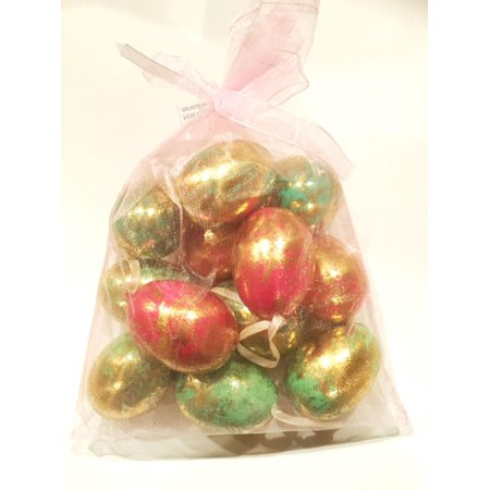 Gold Flecked Egg Ornaments ~ Decorative Easter Eggs ~ 12 count](Plastic Easter Bunny Yard Ornament)
