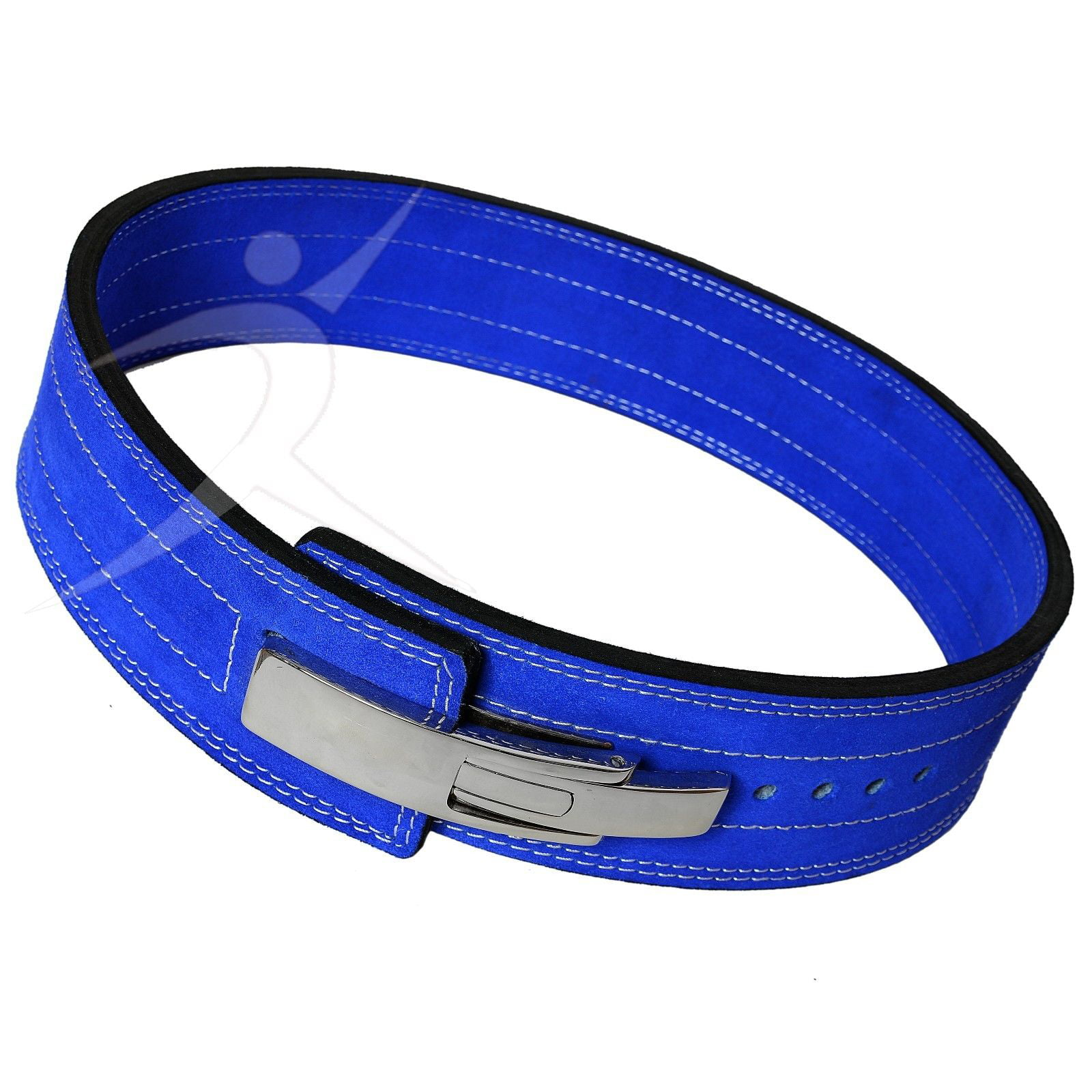 ARD CHAMPS Weight Power Lifting Leather Lever Pro Belt Gym Training Blue Xtra Small by