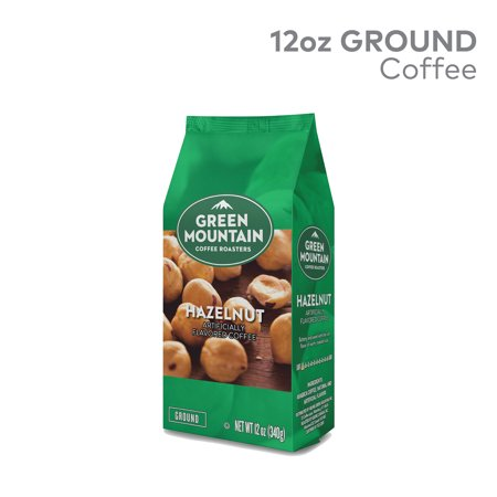 Green Mountain Coffee Roasters, Hazelnut, Ground Flavored Coffee, Light Roast, Bagged 12oz Java Estate Green Coffee