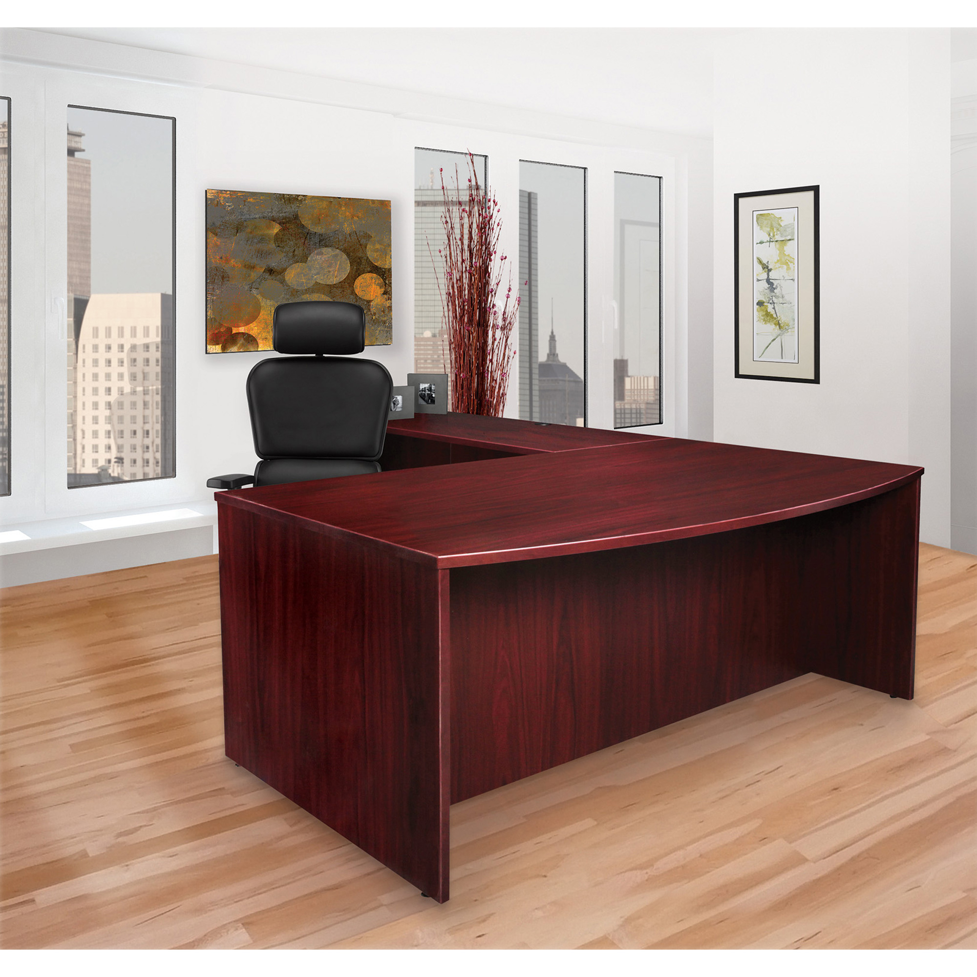 Lorell Prominence Mahogany Laminate Office Suite (pd3672rspmy)