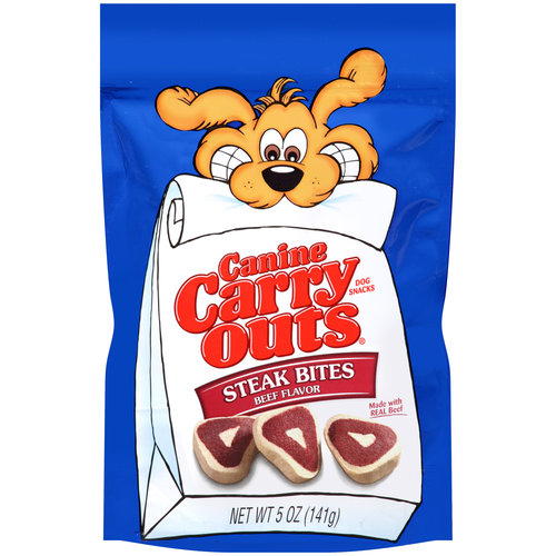 Canine Carry Outs Steak Bites Beef Flavor Dog Snacks, 5 oz