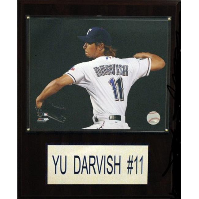 C & I Collectables 1215DARVISH MLB 12 X 15 Yu Darvish Texas Rangers Player Plaque