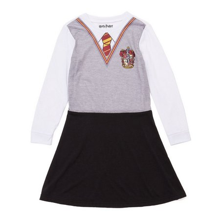 Harry Potter Girls 'Hermione Granger Costume Gryffindor House Wizard Uniform' Costume Pajama Nightgown - Easy Hermione Costume