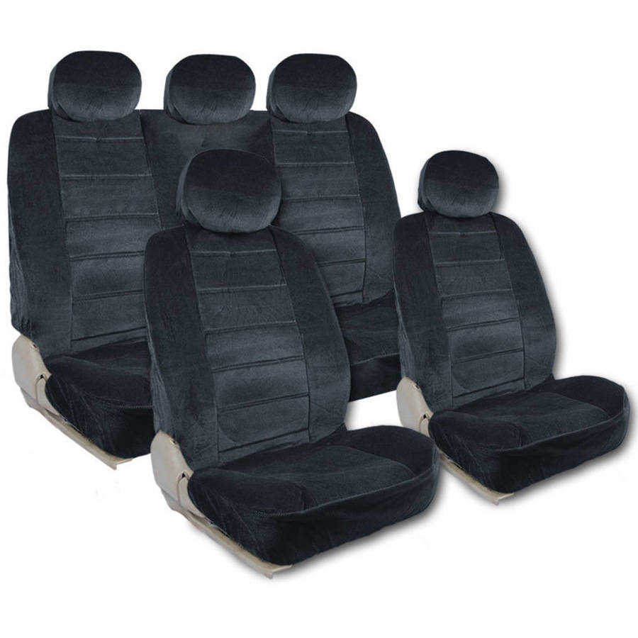BDK Regal Extra Large Car Seat Covers,, 9 Pieces, Front and Rear Full Set, Low Back