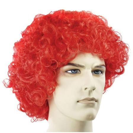 Neon Clown Wigs - Curly Clown Fade Neon Pink Wig Costume
