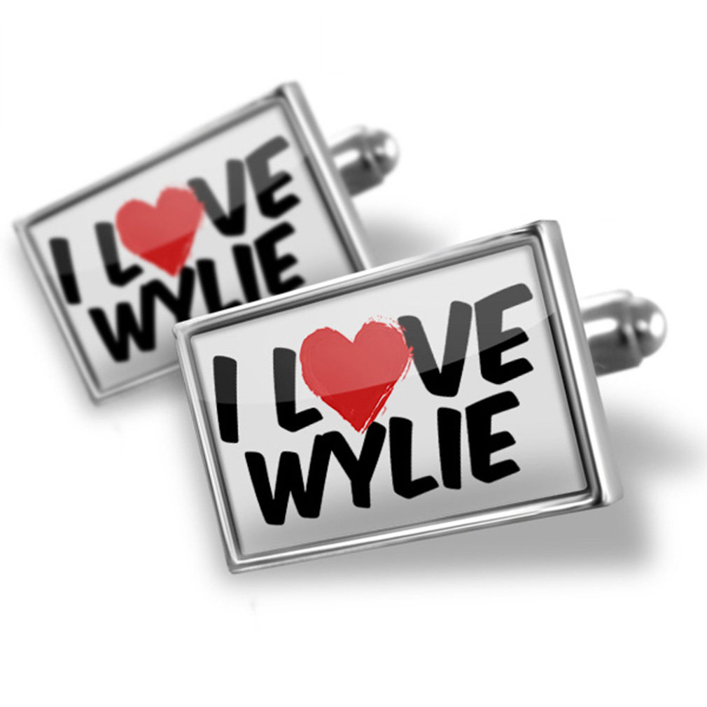 Cufflinks I Love Wylie - NEONBLOND