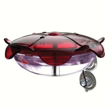 Hummingbird Metal - Droll Yankees Lavender Ruby Sipper Window Hummingbird Feeder