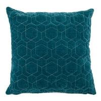 "MoDRN Neo Luxury Hexagon Quilt Decorative Throw Pillow, 20x20"""