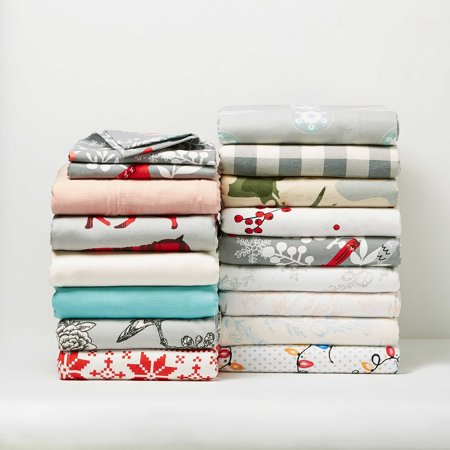 - Mainstays⢠Vanilla Dream Flannel Twin Sheet Set 2 pc Pack