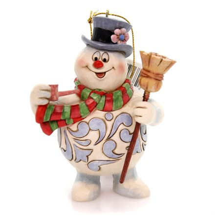 Jim Shore FROSTY THE SNOWMAN Polyresin Ornament Pipe Broom