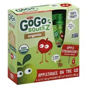 GoGo Squeez Organic Fruit On The Go Apple Strawberry