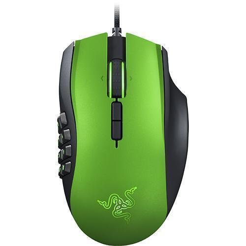 RAZER NAGA MMO (RZ01-01040300-R3U1) 8200dpi Laser Gaming Mouse Limited Edition (Green)